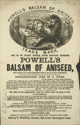 Advert for Powell's Balsam of Aniseed, cough medicine